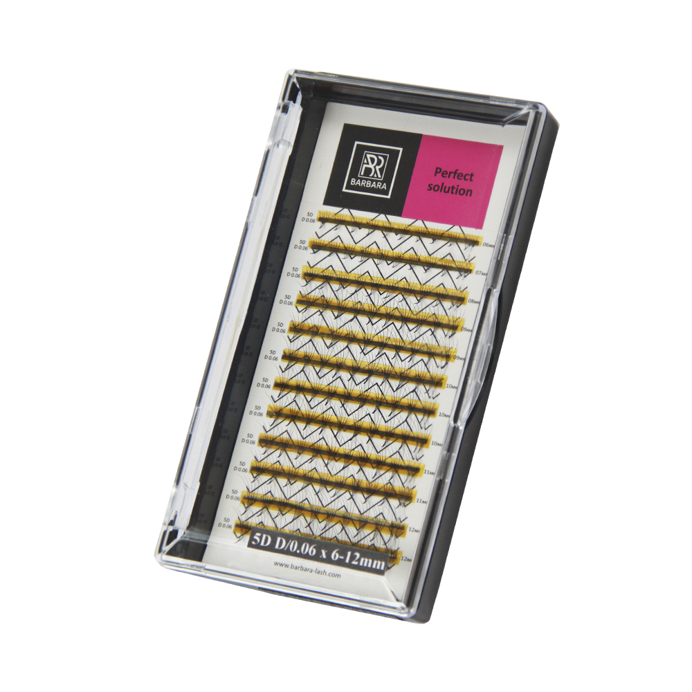 Perfect solution lashes ready-made bundles 5D 12 lines